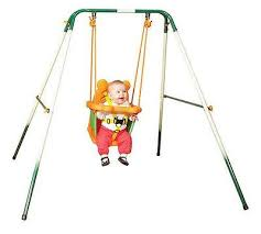 Searsca Patio Swing by Sports Power Indoor Outdoor Toddler Folding Swing Set Baby Kid