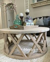 Stylish Farmhouse Side Table With Gorgeous Rustic Round Coffee Modernrefinement