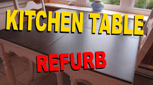 kitchen table refurb tiled top