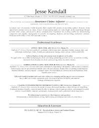 Insurance Resume Examples Sample Sales Objective