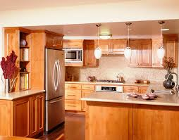 marvelous brown pine kitchen cabinet set with white countertops as