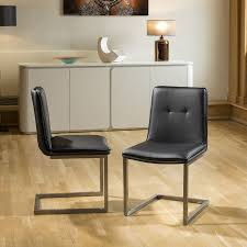Set Of 2 Ultra Modern Low Back Faux Leather Dining Chairs - Quatropi White Ultra Modern Ding Table Wtwo Pedestal Legs Glass Top Classic Chair Room Ideas Chair Chairs Set Of 2 Grey Faux Leather Z Shape C Base Wade Logan Cndale Midcentury Upholstered Set Classics Contemporary Brindle Finish Artsy Tables Kitchen And Chairs Bal Harbor Taupe Pier 1 Gloss Black Fabric Designer Breakpr Luxury Apartment Designs For Young Criss Cross In Espresso Room