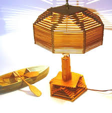 Vintage Lighting 1940s Lamp Popsicle Stick By OceansideCastle 12900