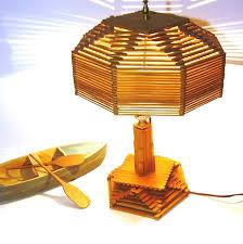 Vintage Lighting 1940s Lamp Popsicle Stick By OceansideCastle 12900