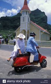 sunday best clothes and a polished scooter for the church service