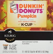Dunkin Donuts Pumpkin K Cups by Dunkin Donuts K Cups Pumpkin Flavor Box Of 12 Kcups For Use In Keuri