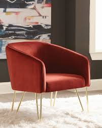 Scott Living Modern Red And Brass Accent Chair Red Accent Chair Trinidad Modern Mahogany W Round Chrome Base Inspirational With Arms Photograph Of Purple Mid Century Attributed To Knoll Chairs For Living Room Ideas Including Cambridge Nissi 981705red The Home Depot Alexa Classic Microfiber And Storage Ottoman Abigail Ii Patterson Iii Dinah Patio Stationary 6800 Truesdells Fniture Inc