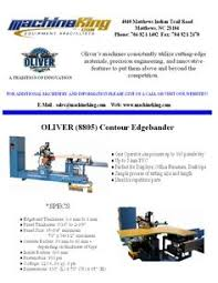 contour edgebander and double sided planer are new machinery that