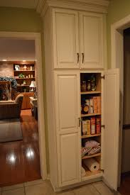 Pantry Cabinet Ikea Hack by F White Wooden Tall Narrow Pantry Cabinet With Maple Wood Shelves