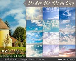 Photo Overlays Under The Open Sky FX-3, Photo Retouch Tools, Cloudy Day  Soft Light Clouds, Sun Rays, Photography Overlays