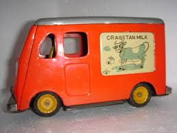 VINTAGE Tin Friction Toy Cragston Milk Truck 8