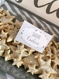 Star Sugar Cookies From A Rustic Twinkle Gender Reveal Baby Shower On KARAS PARTY IDEAS
