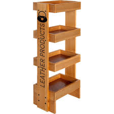 Customized Wood Display Rack With Wheels Branded POP Displays Custom Store Fixture