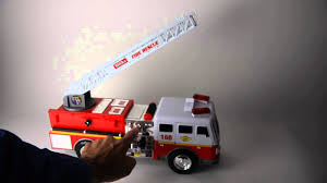 100 Tonka Fire Rescue Truck 2004 168 Toy Lights Motorized Ladder Siren
