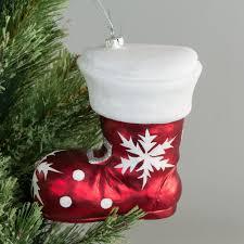 Hanging Santa Boot Christmas Tree Ornament Shatterproof