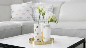 eleganz zu hause edle accessoires in weiß und gold otto