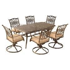 Hanover Traditions Aluminum 7 Piece Rectangular Patio Dining Set ... Home Styles Biscayne 48 In White 5piece Round Swivel Patio Ding Eero Saarinen Oval Table Chairs 5 Pieces Mid Shower Chair New Room Sets With Kitchen Multi Cooker Steamer Wall Decorating Ideas Bar Set Wswivel Polywood Dutch Haus Custom Hanover Traditions Alinum 7 Piece Rectangular High Modern 3in1 Game Bumper Pool Poker Top 5pc Powell Fniture Wayfair With Waste Basket Outdoor Gas Awesome Bassett Glass Top On 3 Bistro Stool Indoor Amazoncom 5601325 And Two