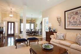 British Colonial Traditional Living Room