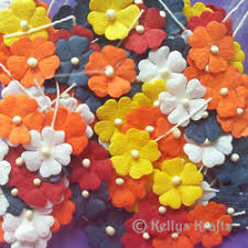 Mulberry Paper Flowers On Stems