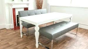 Upholstered Bench For Dining Room Table With Back