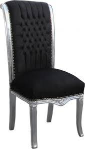 casa padrino barock hochlehner esszimmer stuhl schwarz silber hochlehnstuhl möbel