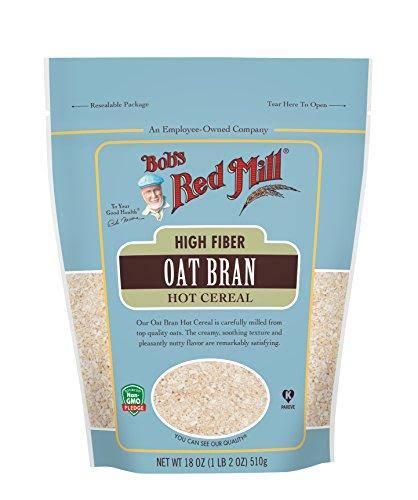 Bobs Red Mill Hot Cereal, High Fiber, Oats Bran - 18 oz