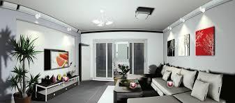 simple lighting design for gray modern minimalist living room