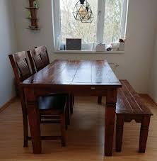 esstisch cuba m 3 stühlen u einer sitzbank dänisches bettenlager