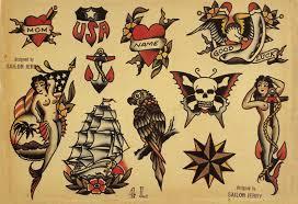 Sailor Jerry Tattoo Art Flash 4 13 X 19 Photo Print