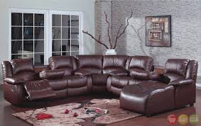 Darrin Leather Reclining Sofa With Console by Leather Sectional Sofa Chaise Recliner Video And Photos