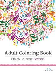 Adult Coloring Book For Stress Relieving Patterns