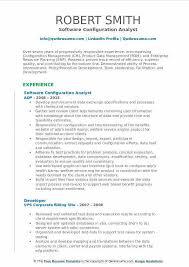 Software Configuration Management Resume