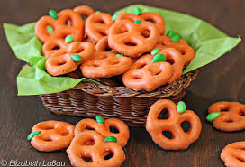 Halloween Pretzel Sticks by Pretzel Pumpkins Recipe