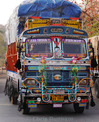 Fancy Decorated Indian Truck - License For £15.38 On Picfair