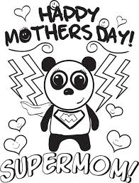 Supermom Mothers Day Coloring Page