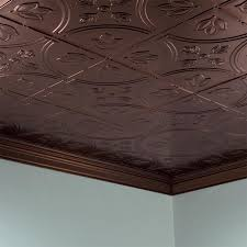 fasade ceiling tile 2x4 direct apply traditional 5 in rubbed