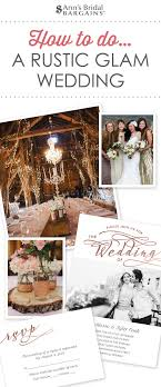 How To Doa Rustic Glam Wedding