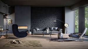 100 Brick Walls In Homes 10 Splendid Living Rooms With Black Wall For Dramatic