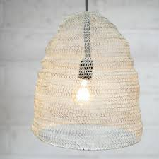 Metal Wire Mesh Pendant Light Lamp Shade Oval Industrial