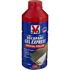 comment enlever colle carrelage décapant colle v33 gel express 2 l leroy merlin