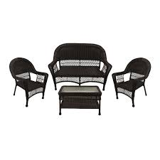 4-Piece Brown Resin Wicker Patio Furniture Set - 2 Chairs Loveseat & Coffee  Table Brown Plastic Patio Chairs Cool Round Wood Outdoor Ding Set Table Acacia Fniture Easy Jordan Us Leisure Resin Adirondack Chair In Modish Boardwalk 81 Luxurious Gallery For Stackable Pair Of Sculptural Alinum After Walter Lamb 38 Dark Wicker Of 4 Espresso Beautiful 1103design Ideas Pacific Whiskey Allweather Adjustable Chaise Lounger With Side 3piece