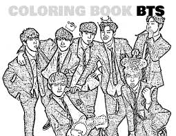 Coloring Book Kpop Bts Kpoplicious Sellfy
