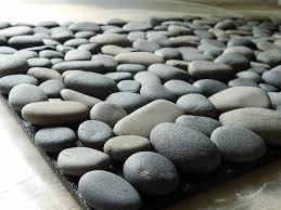 Small Round Bath Rugs by Ocean Stone Bath Mat