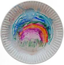 DLTKs Crafts For Kids Rain Painting Artwork