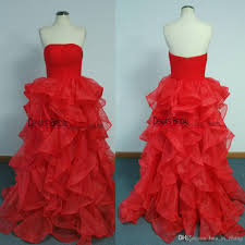 cheap 2017 spring red evening dresses real images ball gown