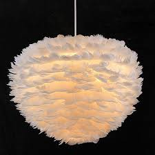 modern pendant lights feather l shades decor fixtures living