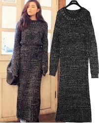 Women Vintage Maxi Long Winter Warm Dresses Ankle Length Vestidos