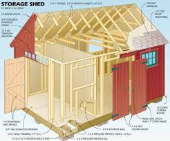10x10 Gable Shed Plans Family Handyman Free Storage Floor Cheap