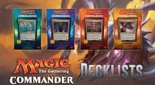 Premade Commander Decks 2016 by Commander 2017 Decklists