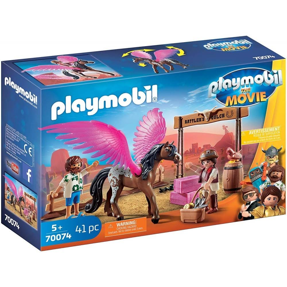 Playmobil the Movie Marla and Del with Flying Horse Set - 41pcs